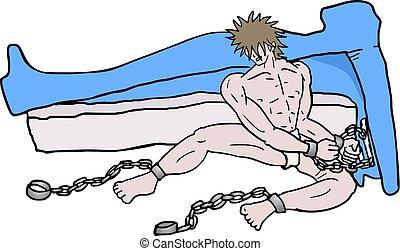 man caught - creative design of man caught