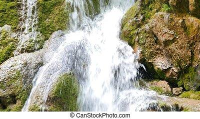 View Silver Falls stream. Crimea.