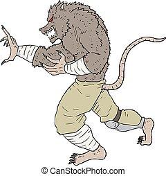 Mutant rat - creative design of mutant rat