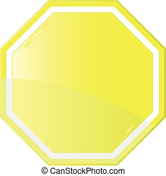 Isolated Blank Yellow Sign,