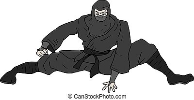 ninja pose - creative deisgn of ninja pose