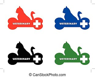 veterinary symbol with cat silhouette