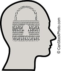 IT specialist - concept of a digital mind or IT specialist,...