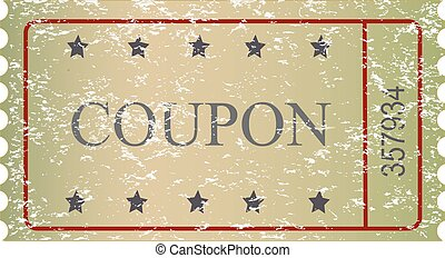 Old vector vintage paper sale coupon