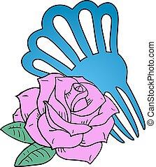 pink rose of Sevilla fair - design of pink rose of Sevilla...