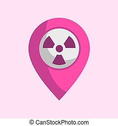 radiation zone icon - design of radiation zone icon