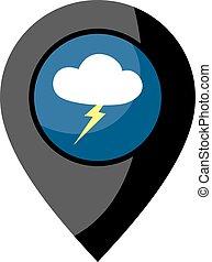 storm zone icon - design of storm zone icon