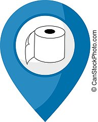 toilet zone - creative design of toilet zone icon
