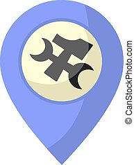 tool location icon - design of tool location icon