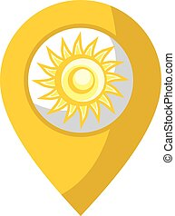 yellow sun symbol - creative design of yellow sun symbol