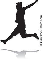 Jumping man, illustration