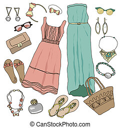 Summer clothes collection for young women and girl....