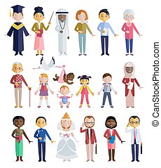 People Of Different Ages Flat Style - People of different...