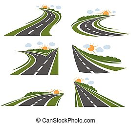 Curvy Roads Landscape Set