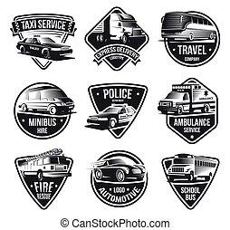 Urban Transport Logotype Set - Public and emergency...