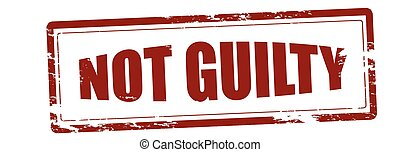 Not guilty - Stamp with text not guilty inside, vector...