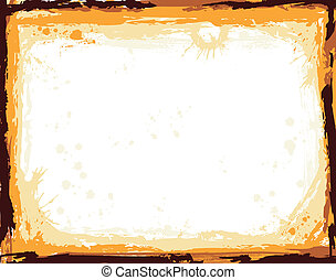Abstract frame with blot, elements for design, vector...