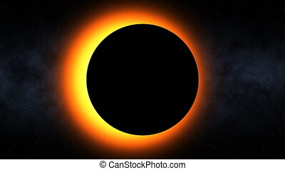 Fiery Solar Eclipse (60fps) - Seamless loop of a solar...