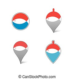 Vector icon with fish.