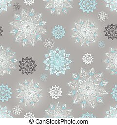 Winter silvery seamless pattern with shiny gradient...