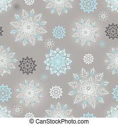Winter silvery seamless pattern