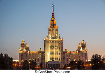 Lomonosov Moscow State University is one of Seven Sisters. -...