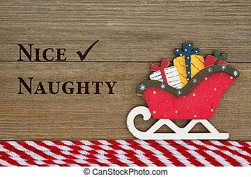 Old fashion Christmas message, A retro Christmas sleigh on...