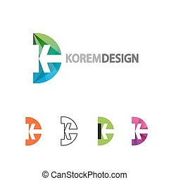 Dynamic Logo in flat, gradient and line style.