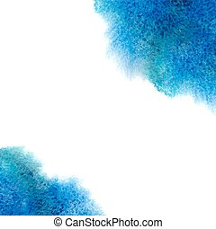 Watercolor, grunge background texture in blue.