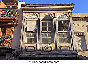Old house with broken windows