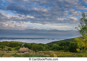 the banks of the Dnieper - landscape on the banks of the...
