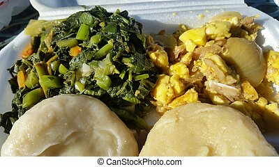 Ackee and callaloo breakfast