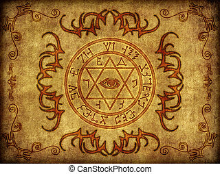 Magic Sigil Graphic Illustration - Illustration of an...