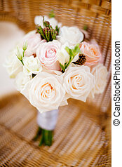 bridal wedding bouquet roses