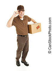 Friendly Delivery - Full Body - Friendly delivery man...