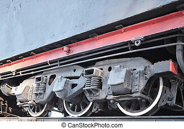 Part of the freight railcar - Part of an old grunge freight...