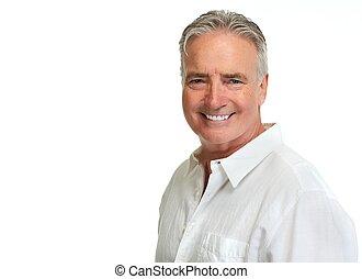 Senior man portrait. - Handsome smiling mature man portrait...