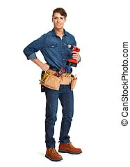 Construction worker. - professional construction worker with...