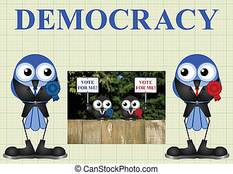 Democracy with politicians - Left and right wing democratic...