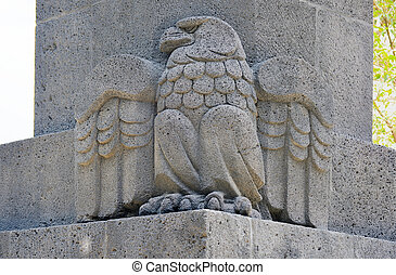 Monument to the Mexican Revolution - Eagle on the Monument...
