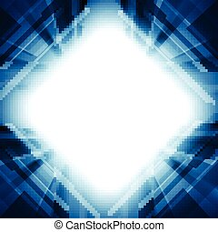 Bright blue motion technology vector background