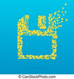 Abstract creative concept vector icon of diskette for Web...