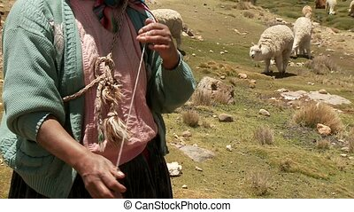 Farmer in Spinning Peru