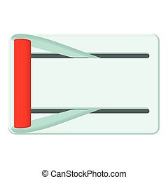 Metal lever of inclusion icon, cartoon style - Metal lever...