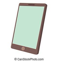 Modern smartphone icon, cartoon style - Modern smartphone...