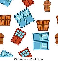 Barrier door pattern, cartoon style - Barrier door pattern....