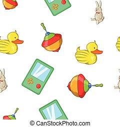 Toys kid pattern, cartoon style