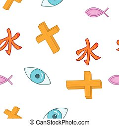 Beliefs pattern, cartoon style - Beliefs pattern. Cartoon...