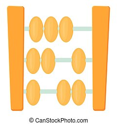 Abacus icon, cartoon style - Abacus icon. Cartoon...