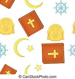 Faith pattern, cartoon style - Faith pattern. Cartoon...